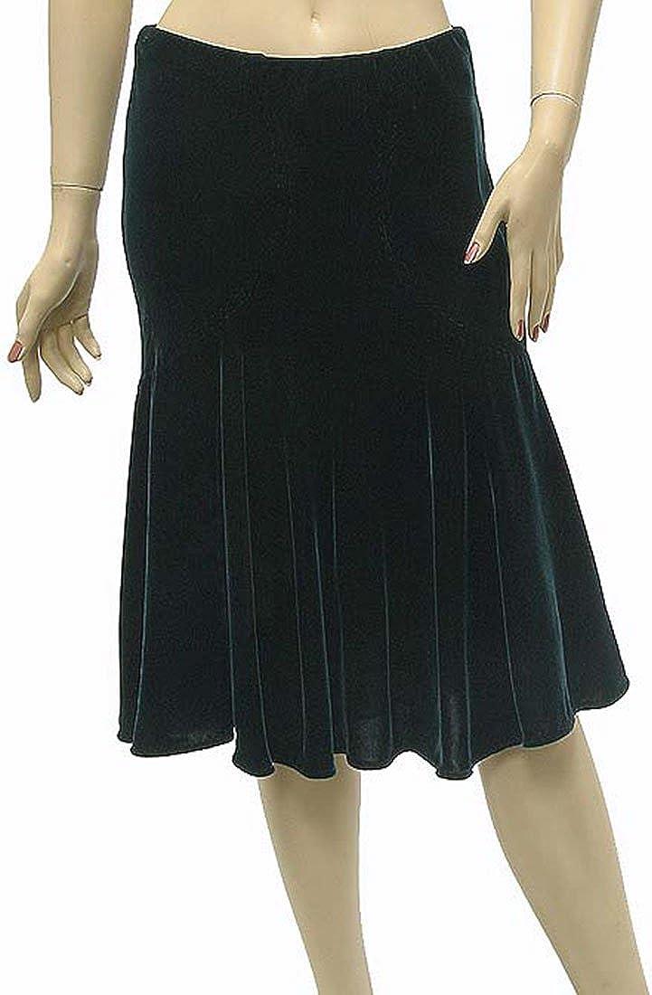 Roberto Cavalli Womens Skirt Green Silk, 40, Green