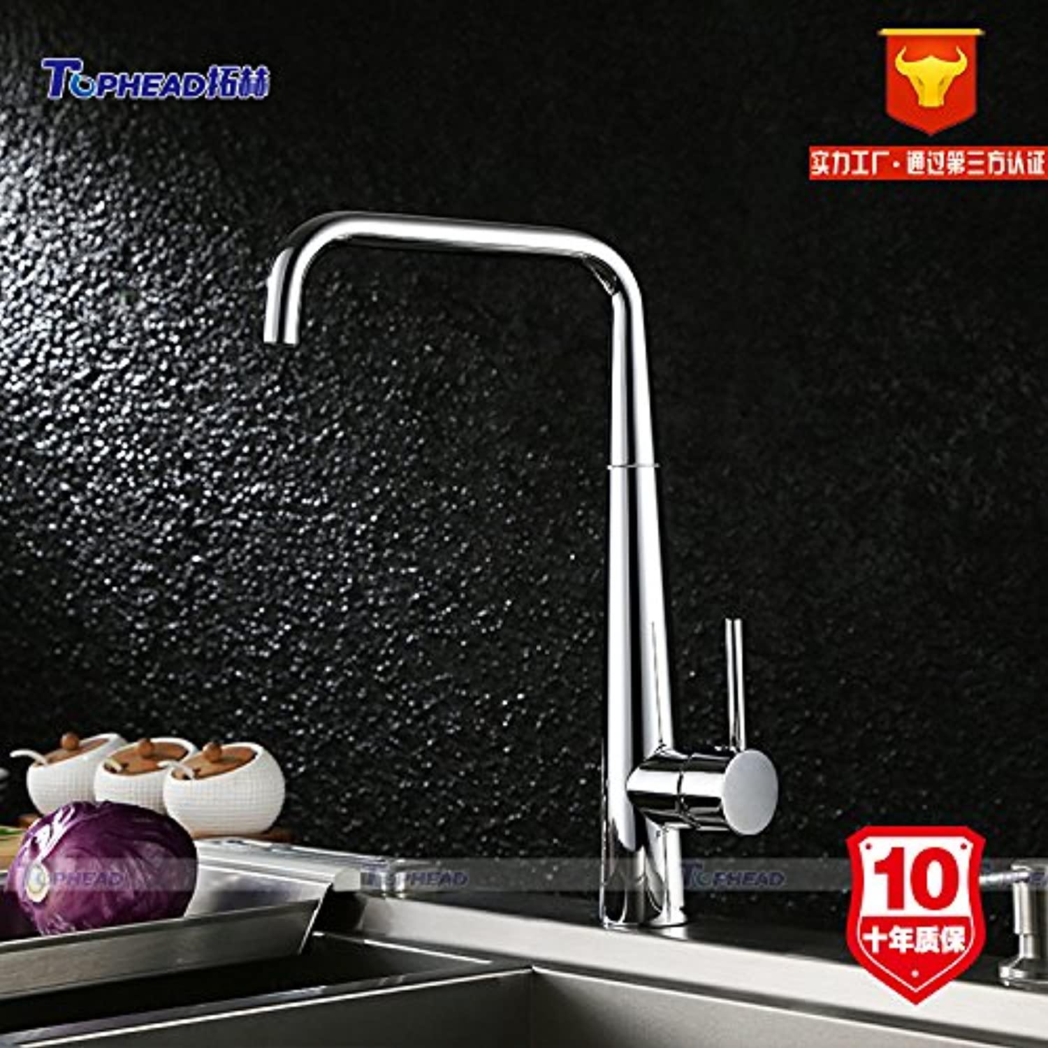 Commercial Single Lever Pull Down Kitchen Sink Faucet Brass Constructed Polished Kitchen Faucet Kitchen Faucet Lead-Free hot and Cold Faucet Single Hole Sink Sink Mixed Wholesale,SH005-5