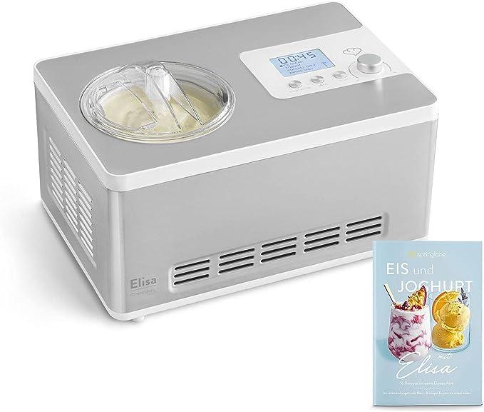791 opinioni per Gelatiera e Yogurtiera ELISA 2 in 1 con Compressore Autorefrigerante, 180W, 2L,