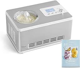 Sorbetière Turbine à Glace Elisa avec compresseur de refroidissement et fonction de chauffage, 2 L Ice-Cream & Joghurt-Mak...