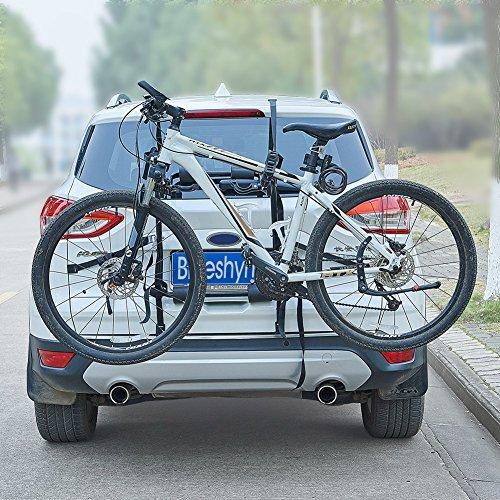 Blueshyhall Auto Fahrradträger Heckklappe Fahrradträger ohne anhaengerkupplung Fahrradträger mit Gurten (Stil 3)
