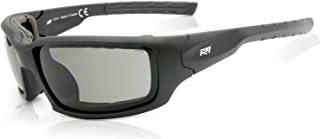 R7 Safety Wrap-Around ANSI Sungl with Foam Back & Z87.1+ Premium Eye Protection Black Chaser by Rio Ray Optics