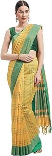 Rajnini Women's Cotton Woven Traditional Saree With Blouse Piece