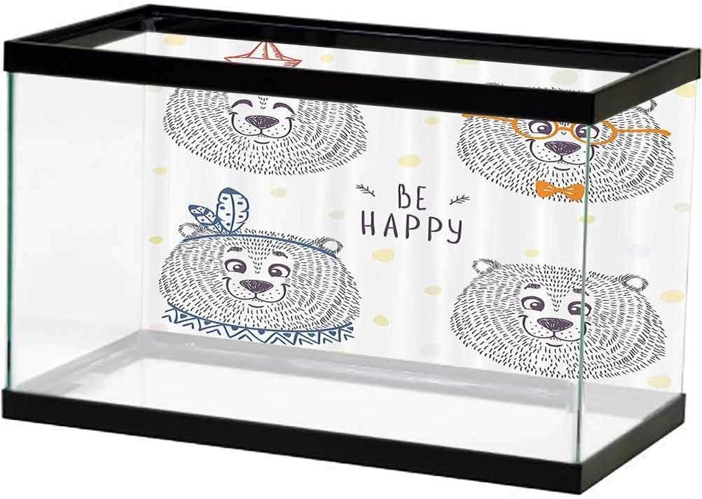 ScottDecor New products, world's highest quality popular! Cartoon Aquarium Fish Tank Kids Bear Girls Room Boys Very popular