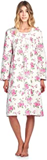 Women's Flannel Floral Long Sleeve Nightgown