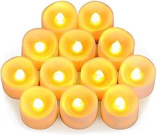 LED キャンドルライト LEDキャンドル ろうそく 癒しの灯り 暖色光 揺らぐ炎 リアル感 火を使わない 安全 省エネ 長持ち 便利 おしゃれ クリスマス 結婚式 誕生日 室内 室外飾り インテリアライト (12個セット)