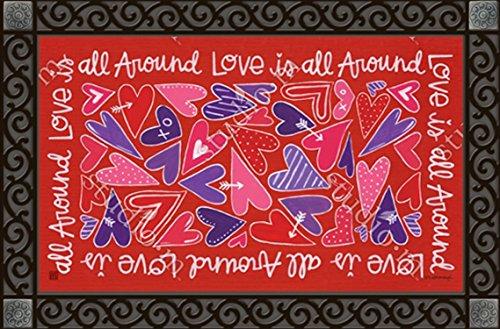Mix It Up Valentine MatMates Doormat #11515