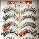 Model 21 False Eyelashes, No. 31, 10 Pairs