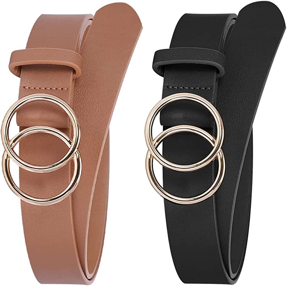 Womens San Jose Mall Belts for Jeans Fashion Black Directly managed store Cute Belt Leat Waist Brown