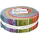 Bonnie Sullivan Woolies Flannel Colors Strips 40 2.5-inch Strips Jelly Roll Maywood Studio