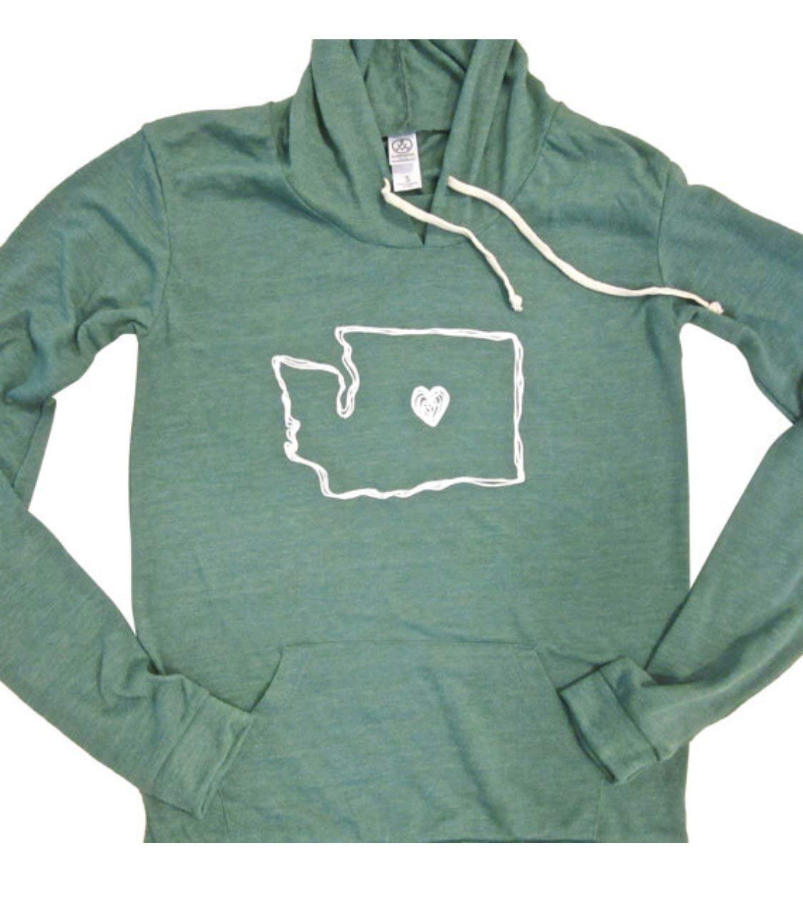 Washington State Love womens lightweight women SEAL limited product Fashionable - hoodie WA Heart