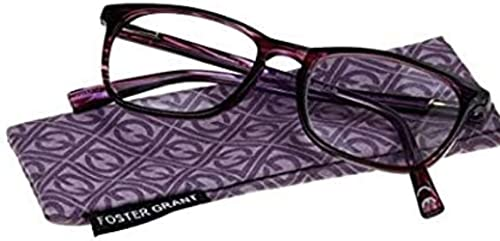 lowest Magnivision 2021 Foster Grant Purple-Patterned Elana Women's new arrival Reading Glasses +2.50 sale