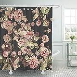 Tenda da doccia Decorativa Fiore colorato Bellissimo Bouquet Acquerello Rosa Astratto Bellezza Fioritura Fiore Impermeabile muffa Resistente Gancio da bagno Set di tende