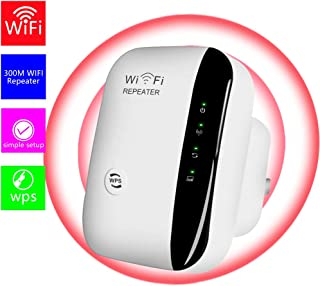 WiFi Extender-Mini WiFi Range Extender,N300 Wireless WiFi Repeater for 2.4GHz Internet WiFi Signal Booster Amplifier 802.1...