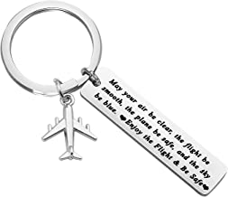 Pilot Gift Flight Attendant Gift Fly Safe Keychain Traveling Gifts May Your Air Be Clear The Flight Be Smooth The Plane Be Safe Airplane Jewelry