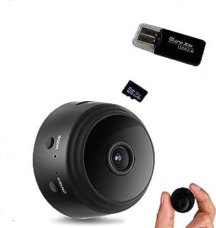 CROMINA Mini Spy Camera Wireless Hidden Home Apartment Office Nanny Cam Cars Indoor Outdoor WiFi Security 1080P Night Visi...