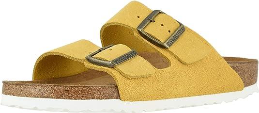 yellow Birkenstock sandals high quality