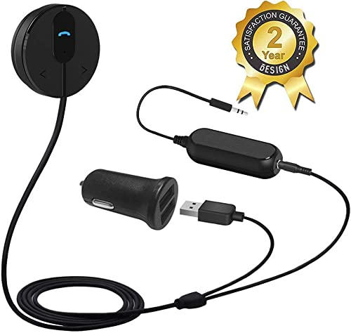 BESIGN BK01 Bluetooth Car Kit, Wireless Receiver for Handsfree Talking and Music Streaming with Ground Loop Noise Iso...