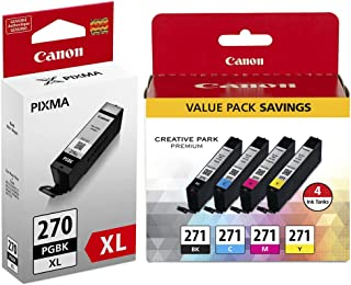 Canon PIXMA MG6821 High Yield Pigment Black with 4-Color (BK/C/M/Y) Ink Cartridge Set NEW