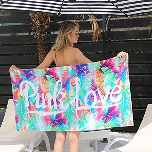 LB trading asciugamani da spiaggia, asciugamano da bagno 145*70cm cotone Materiale morbido e comodi Color