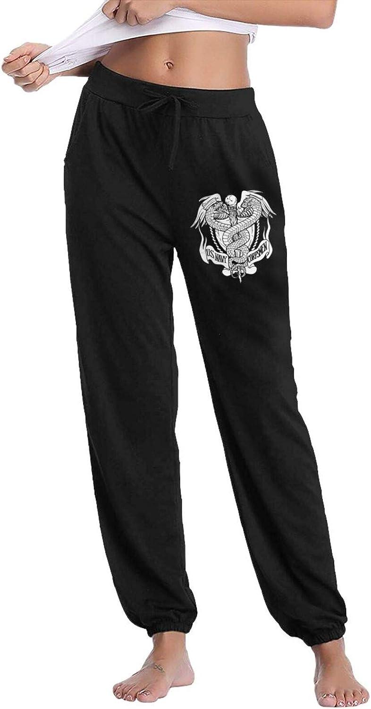 LNGCUNHAA US Navy Hospital Corpsman Rating Woman's Long Pants Relaxed Comfort Casual Jogger Pants