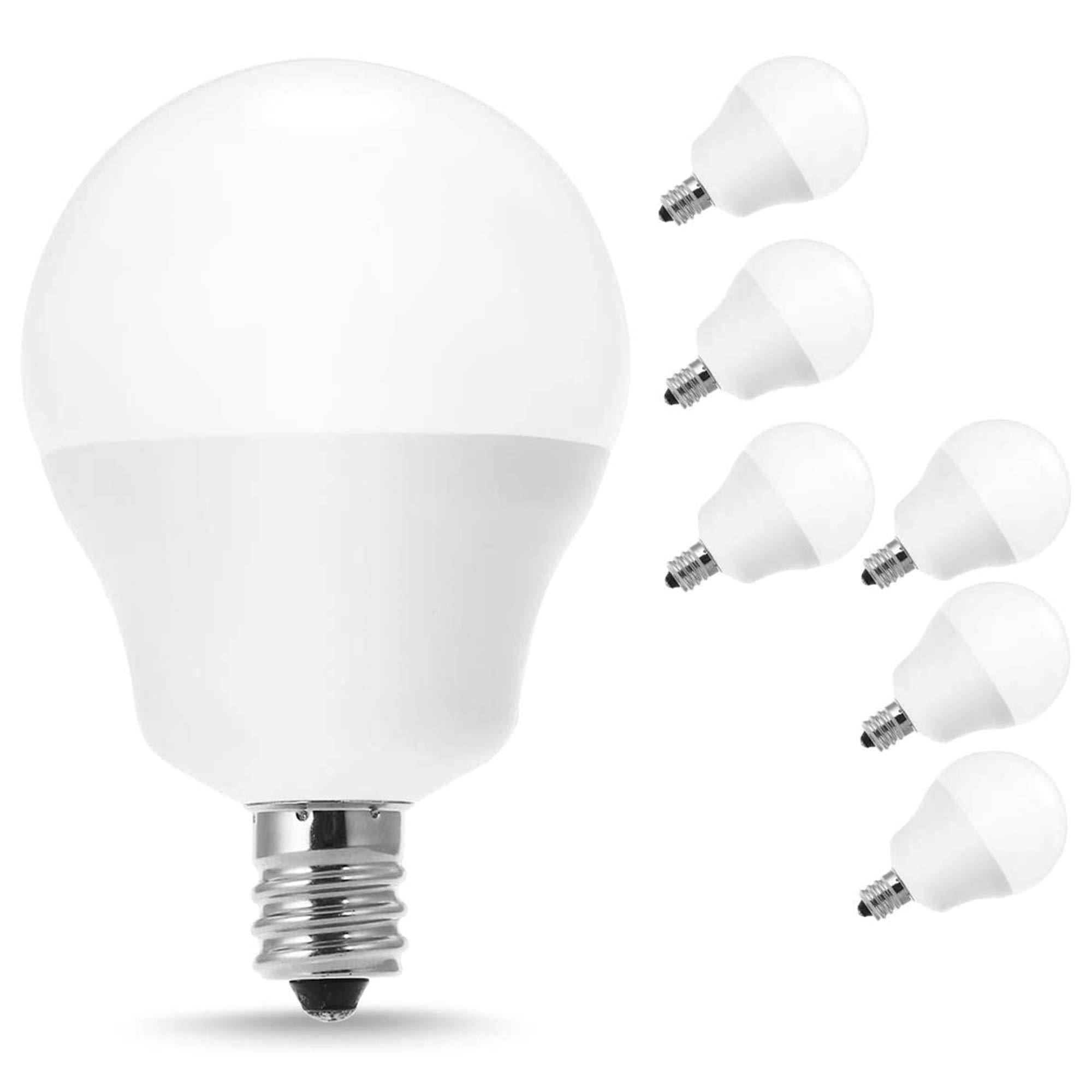 Jandcase E12 Candelabra Led Bulb 40w Equivalent G14 Led Bulbs Soft White 3000k 5w Ceiling Fan Light 450lm Vanity Mirror Lighting For Bathroom Living Room Bedroom Not Dimmable Pack Of 6