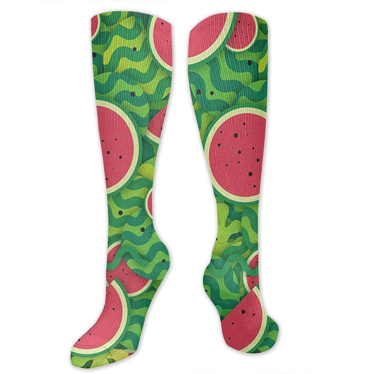 亜熱帯反発別の靴下,ストッキング,野生のジョーカー,実際,秋の本質,冬必須,サマーウェア&RBXAA Red Watermelon Socks Women's Winter Cotton Long Tube Socks Cotton Solid & Patterned Dress Socks