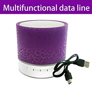 ELECTROPRIME DC5V Speaker Bluetooth Rechargeable Waterproof Wireless Audio Mini Purple