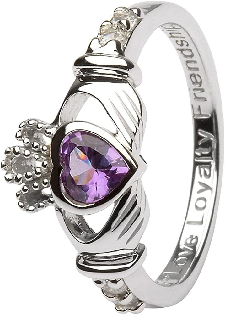 June Birth NEW before selling ☆ Month Sterling Silver LS-SL90-6. Ring Popular standard Claddagh i Made