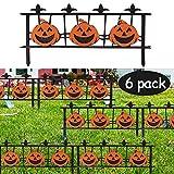 Triumpeek Autumn Outdoor Decoration, 24 X 11 Inch 6 Packs Halloween Pumpkin Yard Stake Signs, Fall Harvest Pumpkin Fence Lawn Sign Outdoor Decor, Kid Friendly Halloween Decorations