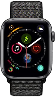 Apple Watch Series 4-44mm Space Gray Aluminum Case with Black Sport Loop, GPS, watchOS 5