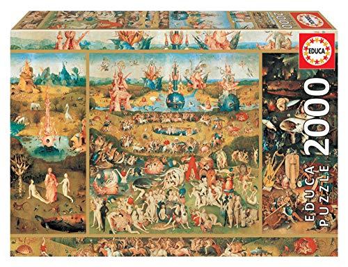 Educa Borras - Genuine Puzzles, Puzzle 2.000 piezas, El Jardín de las delicias (18505)