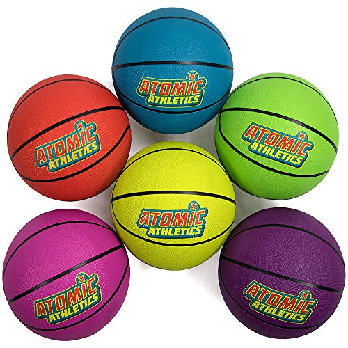 Sale!! KRS Set of 6 Youth Size Neon Basketballs - Includes Bonus Mess Bag!