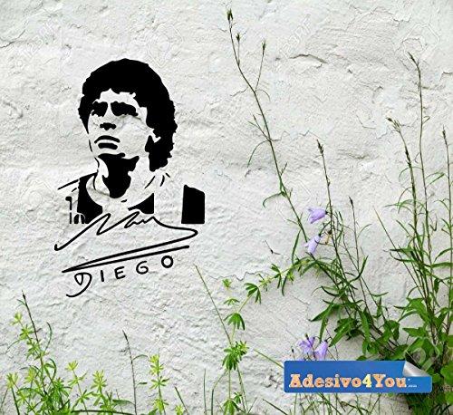 Adesivo Murale, Wall Sticker, DIEGO el pibe, calciatore, calcio, maglie da calcio, Napoli,adesivo in PVC Adesivo4You.com