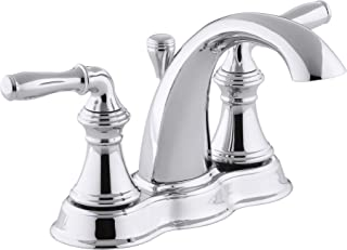 KOHLER Devonshire Bathroom Sink Faucet, Polished Chrome, 393-N4-CP