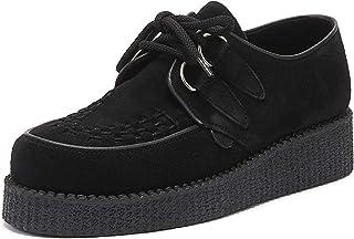 Underground Wulfrun Creeper Womens Black Suede Shoes