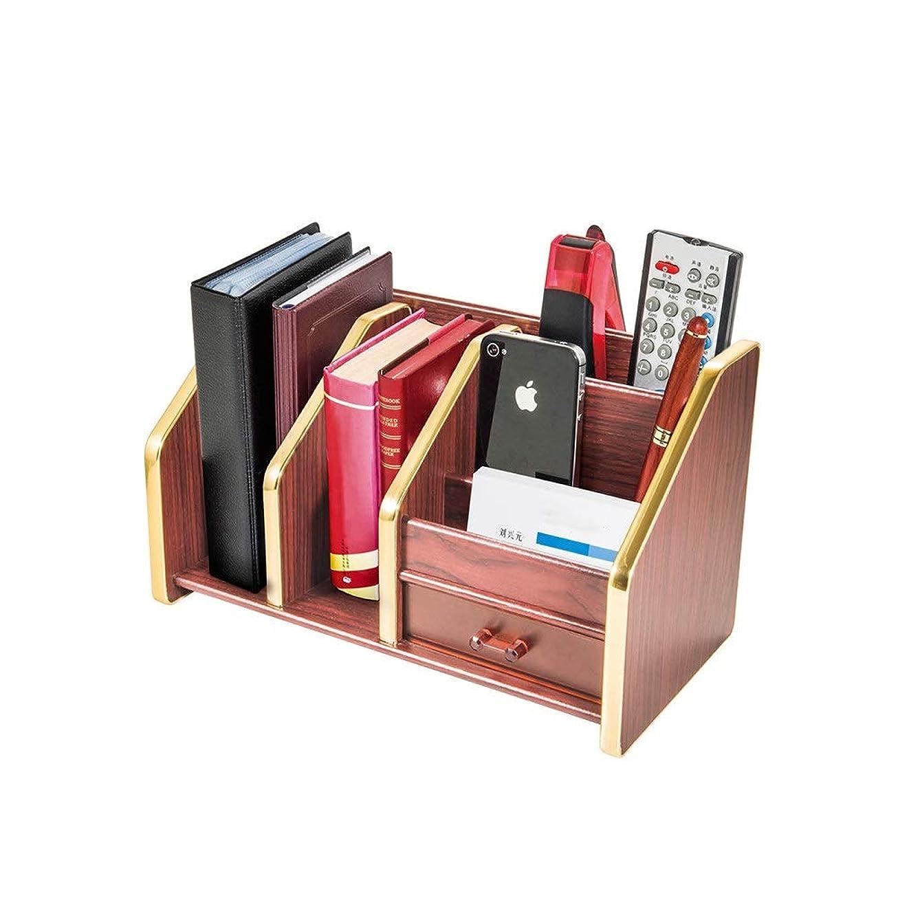 残り適応的地下書類トレー クリエイティブ引き出しDesktopは、ストレージボックス、マルチファンクションOfficeファイルホルダードキュメントデスクTidyのオーガナイザーストレージを整理する木製ラック マガジンホルダ (Color : Photo color, Size : 283x146x161mm)