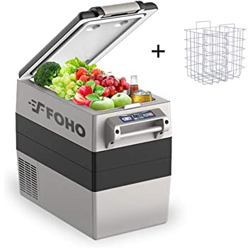 Car Freezer, Portable Car Refrigerator 55 Quart, -4°F to 50°F Compressor Compact 12V/24V Cooler Fridge for Car, Vehicle, Truck, Camping, Boat for Driving, Travel, Fishing, Outdoor or Home Use