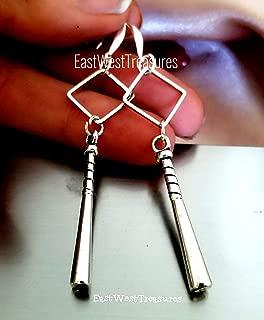 Softball Baseball bat Drop Earrings for Teenage Girls Women Her, Baseball Softball Mom Coach Jewelry Gift