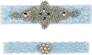 Lace Wedding Garter Belt Set Vintage Beaded for Bridal