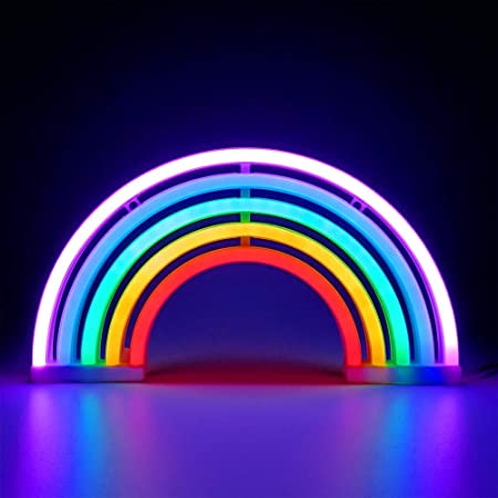 """Wall Art and Holiday D/écor: Powered by USB Wire Party Bedroom Decorations POPSICLE Isaac Jacobs 18/"""" x 8/"""" inch LED Neon /'White /& Pink IceCream Popsicle/' Wall Sign for Cool Light Home Accessories"""