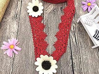 magnifique rouge et or bordure en dentelle pour la conception Arts Crafts Décor 1 mètre 2xm