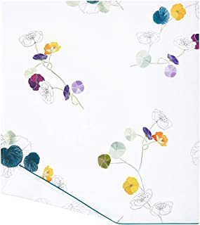 Yves Delorme - Pavot Floral Full/Queen Flat Sheet - Luxury Flat Sheet from France.