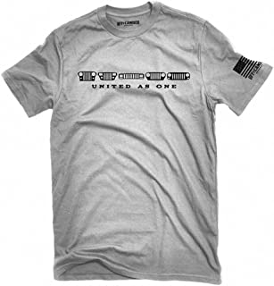 Jeep Grilles t-shirt United as one featuring wrangler JK, TJ, YJ CJ