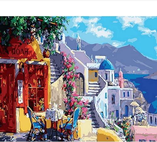tienda de ventas outlet Pintura al óleo óleo óleo por números Pintar por número para la decoración del hogar Cuadro al óleo Pintar mi Grecia 40x50cm Enmarcado  moda clasica