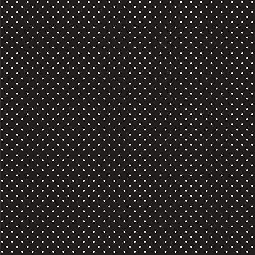 babrause® Baumwollstoff Pünktchen viele Farben Webware Meterware Popeline OEKOTEX 150cm breit - Ab 0,5 Meter (schwarz)