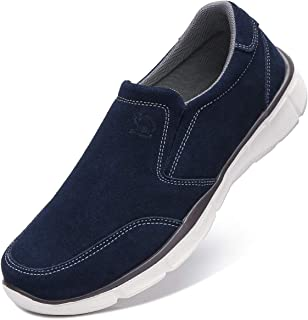 Mens Slip On Sneakers Leather Loafers Comfort House Slippers Casual Walking Shoes for Men Outdoor Sports Fitness