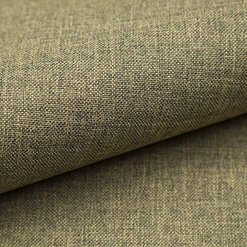 Teker Torino Polsterstoff Möbelstoff Meterware - z.B. Stoff für Stühle oder Eckbank Bezug - Grün-grau