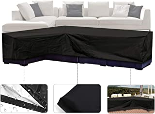 ESSORT Patio Cover, Large Outdoor Sectional Furniture Set Cover, Table Chair Sofa Covers, Waterproof Dust Proof Anti UV/Wind, Protective Cover for Garden (78''x106''x35'' L-Shaped Sofa Cover)