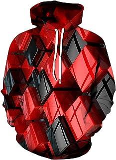 Idgreatim 3D Unisex Felpe con Cappuccio Cerniera Tasche Felpa Stampato Pullover